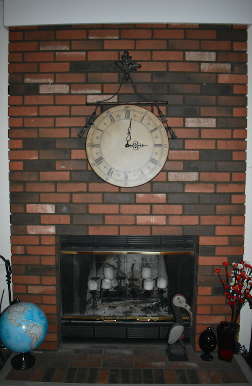 fireplace before visit to At Home Stores