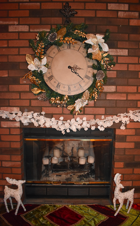 fireplace decor from At Home stores