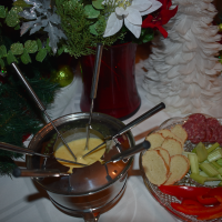 For a twist on a holiday dinner, try this Christmas fondue
