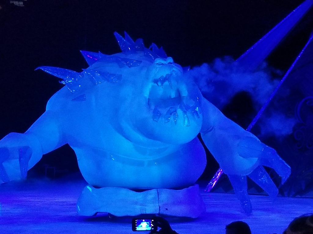 Disney on Ice snow monster from Frozen