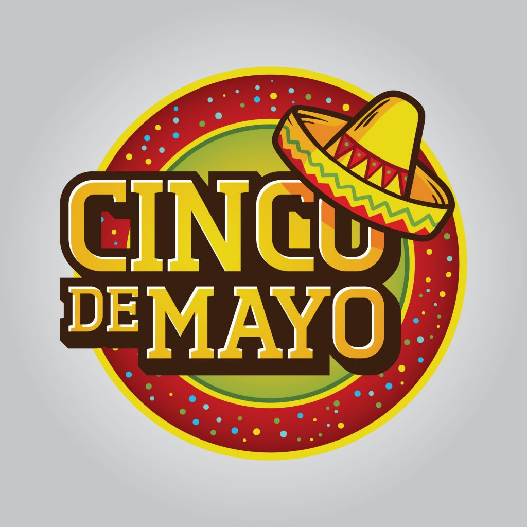 cinco de mayo logo with mexican hat