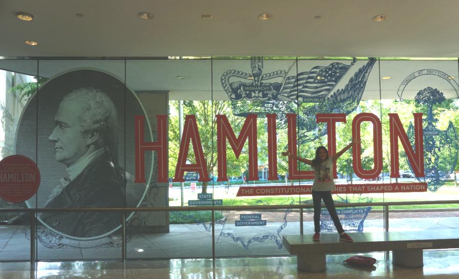 Hamilton exhibit at Constitution Center.