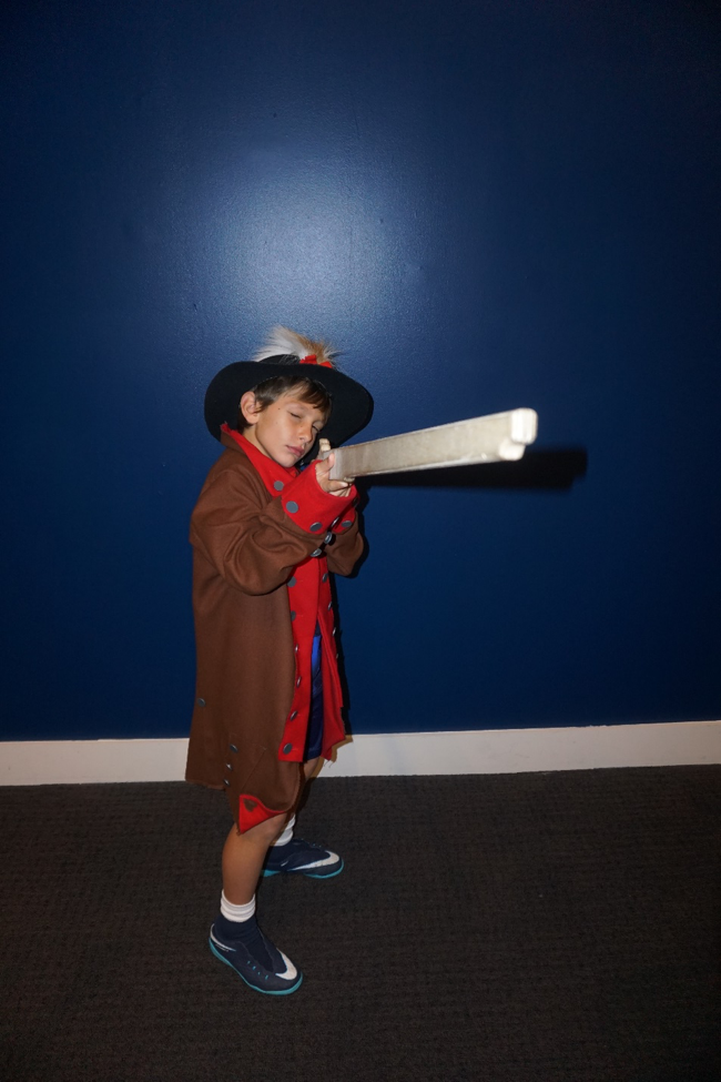 Dressing up as soldiers at the Museum of the American Revolution