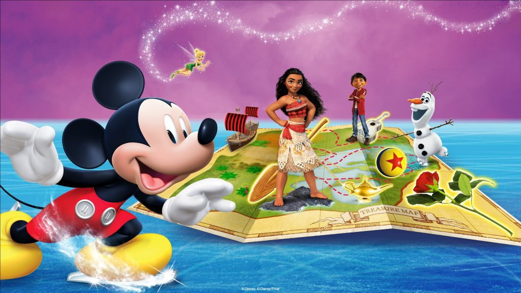 Promo image of Mickey and Moana for Mickey's Search Party Disney on Ice show