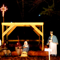 Learn about Christmas at a live nativity