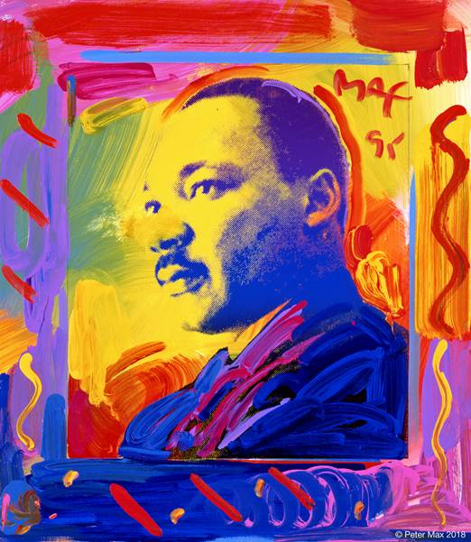MLK portrait by Peter Max