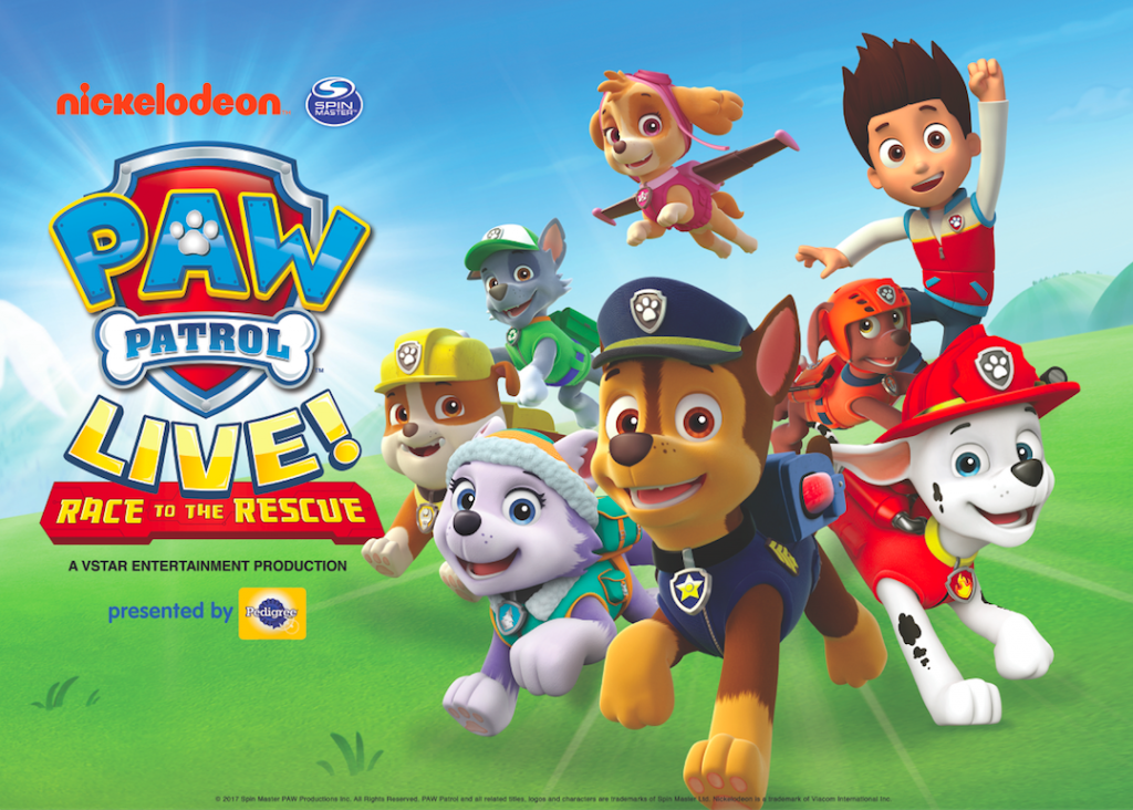 Logo for animated show PAW Patrol stage production