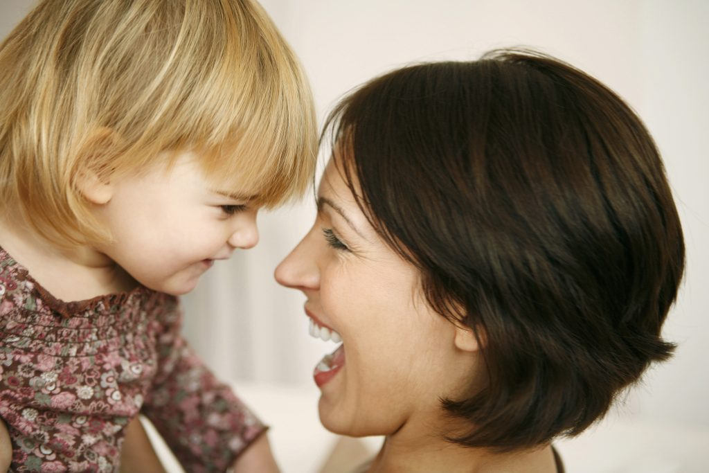 creating calm parenting workshop photo of happy mom and toddler daughter