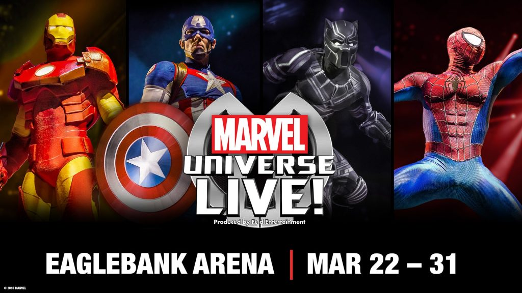 Marvel heroes in Marvel Universe Live ad
