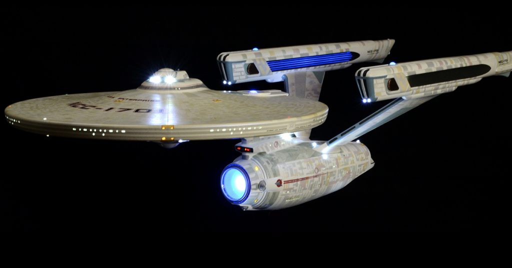 Star Trek USS Enterprise replica from Escape Velocity