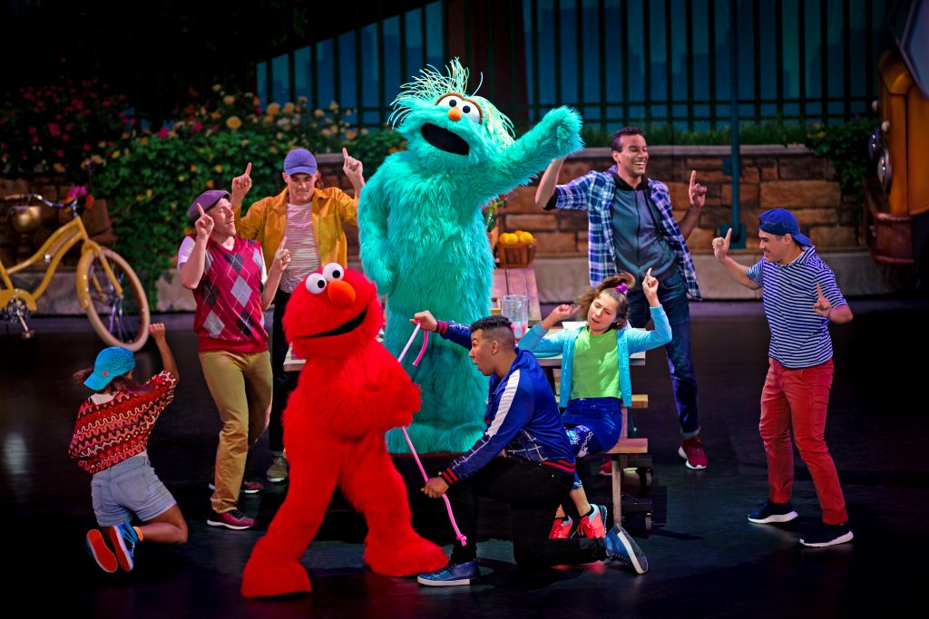 Sesame Street Live with Elmo and Rosita making music
