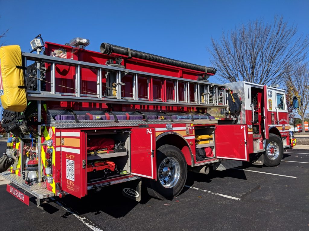 fire truck at VDOT Incident management open house