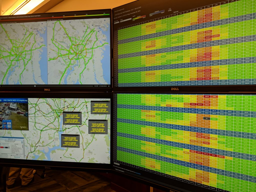 computer screens at VDOT Incident management open house