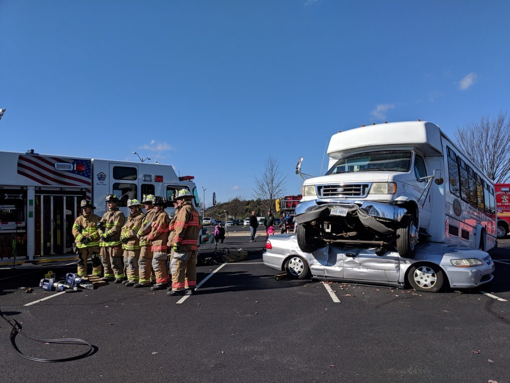 vehicles at VDOT Incident management open house
