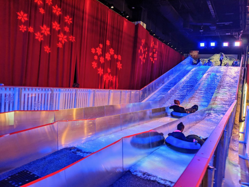 Indoor tubing at Gaylord National ICE Christmas on the Potomac