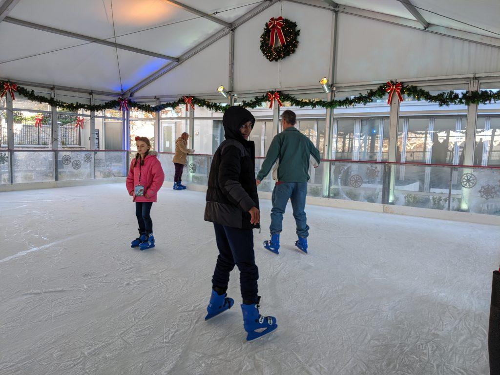 young man ice skating at Christmas on the Potomac ICE! Gaylord National