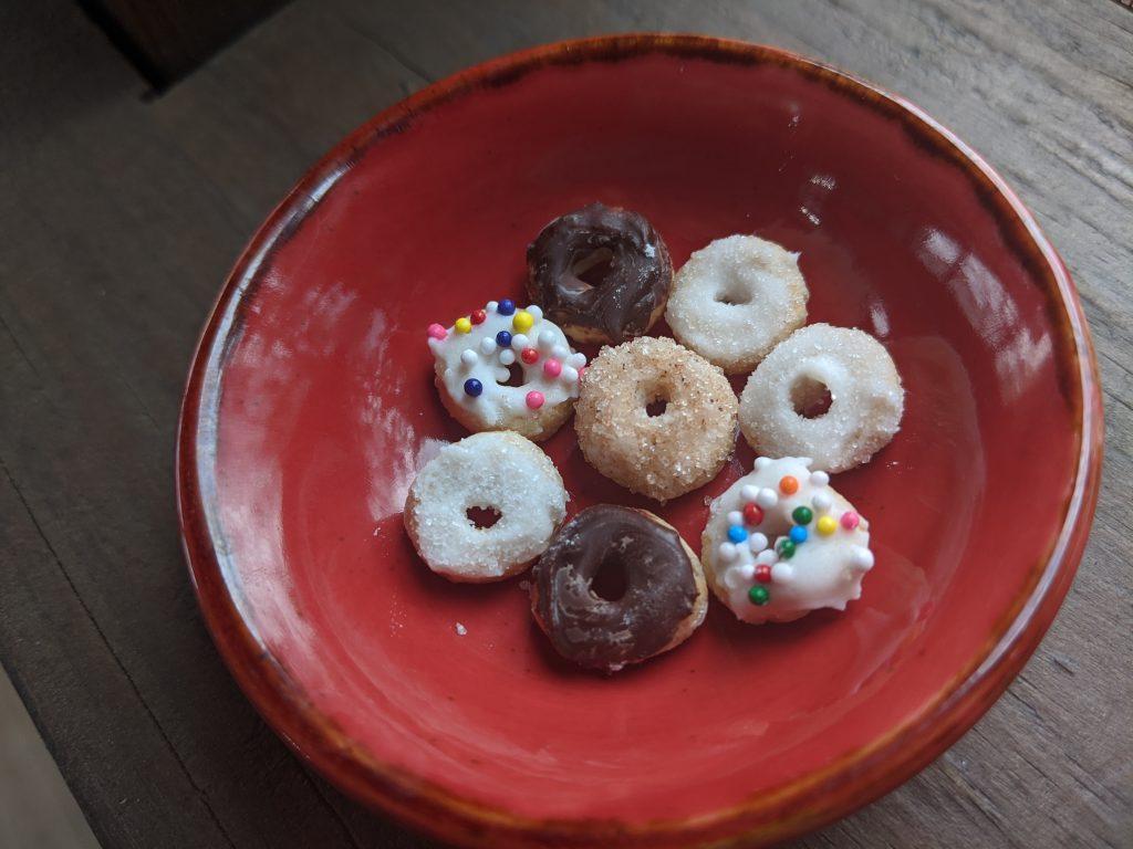 April Fool's Day miniature donut prank