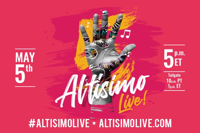 Flyer for Altisimo Live Cinco de Mayo event