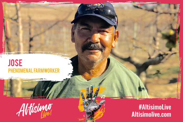 Image of farm worker to promote Altisimo live benefit concert