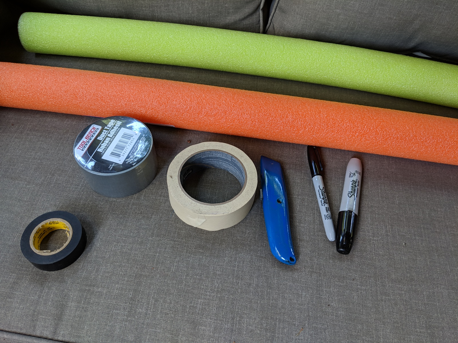 prop for school photos how to make a giant foam pencil from a pool noodle